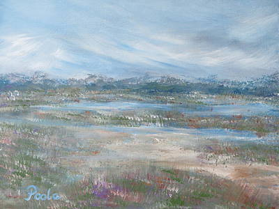 Painting - Stormy Marsh At Shell Island by Pamela Poole
