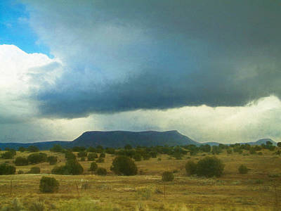 Photograph - Stormy Mohave County Landscape by Bonnie Follett