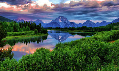 Stormy Morning In Jackson Hole Print by Jeff R Clow