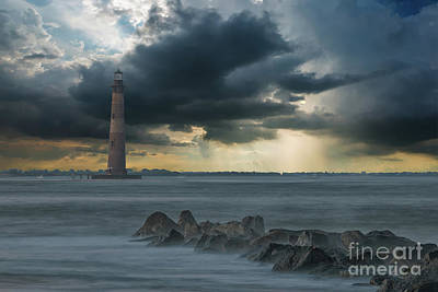 Photograph - Stormy Morris Island by Dale Powell