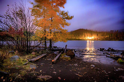 Photograph - Stormy Night At Round Lake by Cat Connor
