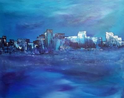 Wall Art - Painting - Stormy Night by Linda Wimberly