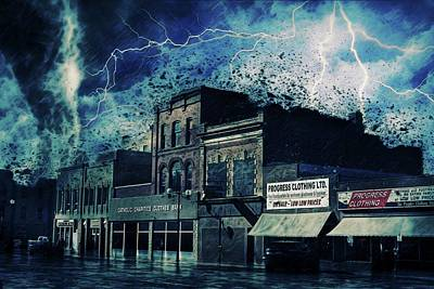 Stormy Weather Mixed Media - Stormy Night by Terry Fleckney