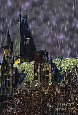 Haunted House Digital Art - Stormy Night by Victoria Harrington