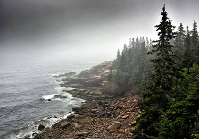 Stormy North Atlantic Coast - Acadia National Park - Maine Art Print