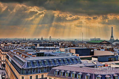 Photograph - Stormy Paris by Erika Weber