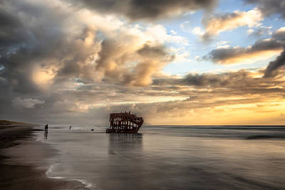 Peter Iredale Photograph - Stormy Peter Iredale Wreck On The Oregon Coast by Blayden Thompson