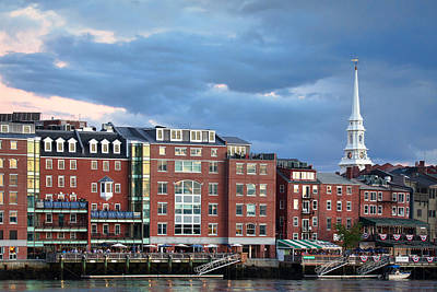 Harpoon Photograph - Stormy Portsmouth Waterfront by Eric Gendron