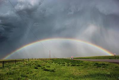 Stormy Rainbow Art Print