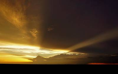 Photograph - Stormy Rays At Sunset by Ed Sweeney