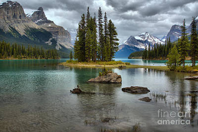 Photograph - Stormy Reflections At Spirit Island by Adam Jewell