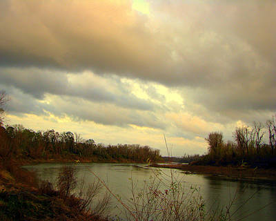 Stormy River Art Print by Dottie Dees