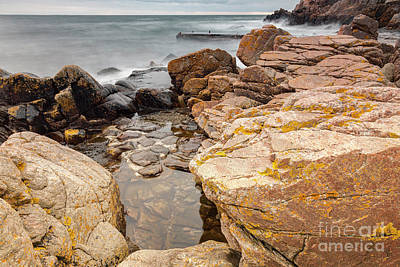 Photograph - Stormy Rock Beach by Sophie McAulay