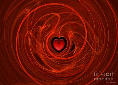 Digital Art - Stormy Romance by Sandra Bauser Digital Art