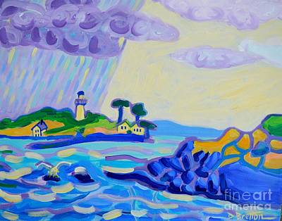 Painting - Stormy Sail Out To Little Misery Island by Debra Bretton Robinson