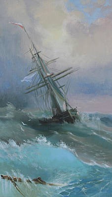 Painting - Stormy Sails by Ilya Kondrashov