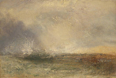 Painting - Stormy Sea Breaking On A Shore by Joseph Mallord William Turner