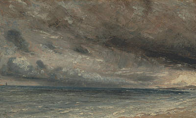 Painting - Stormy Sea Brighton by John Constable