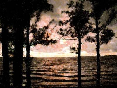 Mixed Media - Stormy Sea by Florene Welebny