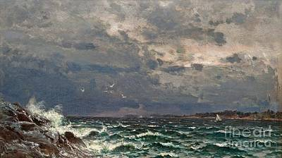 Stormy Weather Painting - Stormy Sea by MotionAge Designs