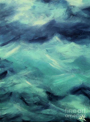 Painting - Stormy Sea by Jackie Carpenter