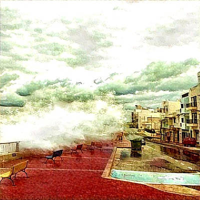 Mixed Media - Stormy Sea by Lucia Sirna