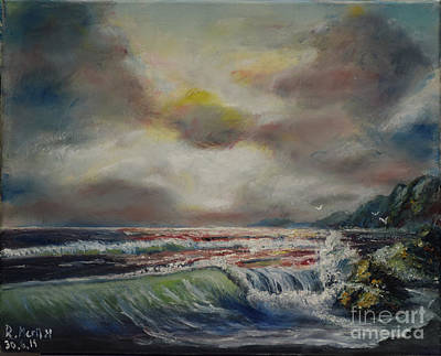 Painting - Stormy Sea by Raija Merila