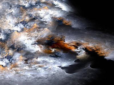 Storm Digital Art - Stormy Seas by Amorina Ashton