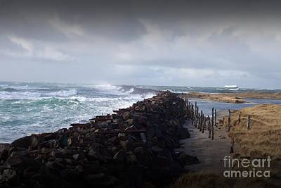 Photograph - Stormy Seas And Jetty by Chalet Roome-Rigdon