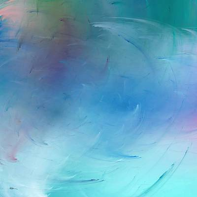Digital Art - Stormy Seas Aqua by Wally Boggus