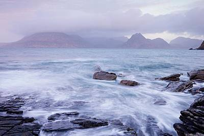 Photograph - Stormy Seas At Elgol by Stephen Taylor