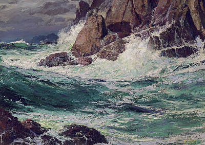 Nature Scene Painting - Stormy Seas by Edward Henry Potthast