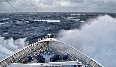 Stormy Seas, Granduer Of The Seas, Atlantic Ocean Print by Wayne Higgs