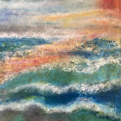 Art Print featuring the painting Stormy Seas by Kim Nelson