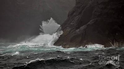 Photograph - Stormy Seas St Kilda Scotland by Colin Munro