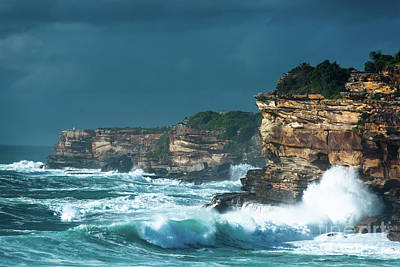 Photograph - Stormy Seascape by Andrew Michael