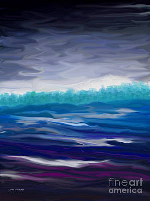Painting - Stormy Seascape by Annie Zeno