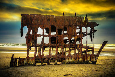 Peter Iredale Photograph - Stormy Shipwreck by Garry Gay