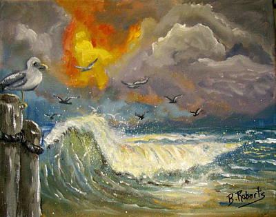 Stormy Skies Original by Bobbie Roberts
