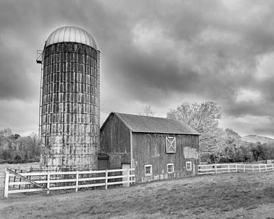 Photograph - Stormy Skies Bw by Bill Wakeley