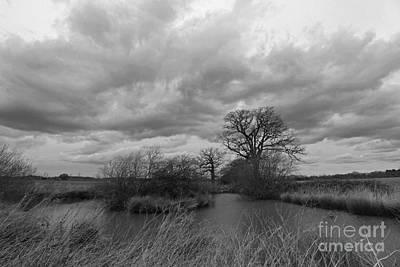 Photograph - Stormy Skies Epsom Surrey Uk by Julia Gavin