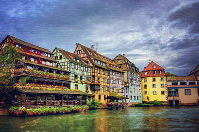 Stormy Skies In Strasbourg Art Print