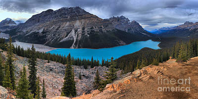 Photograph - Stormy Skies Of Peyto Lake by Adam Jewell
