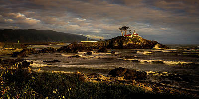 Photograph - Stormy Skies Over Battery Point Lighthouse by TL Mair