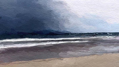 Mixed Media - Stormy Skies Over Beach by Anthony Fishburne