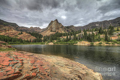 Photograph - Stormy Skies Over Lake Blanche And Sundial Peak by Spencer Baugh