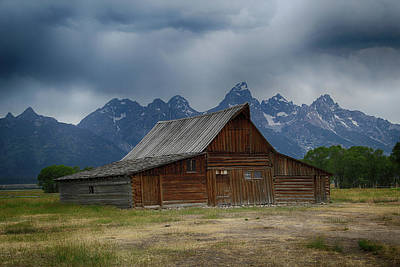 Photograph - Stormy Skies Over Moulton Barn by Marie Leslie
