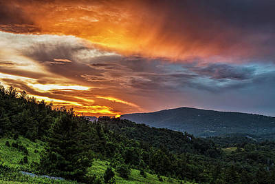 Blue Ridge Parkway Photograph - Stormy Skies Over The Blue Ridge by Andrew Soundarajan