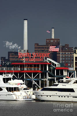Photograph - Stormy Skies Over The Rusty Scupper Baltimore by James Brunker