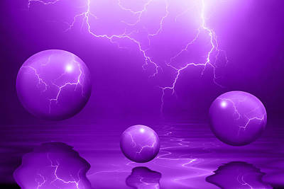 Reflection Photograph - Stormy Skies - Purple by Shane Bechler